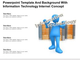Powerpoint Template And Background With Information Technology Internet Concept