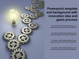 Powerpoint Template And Background With Innovation Idea And Gears Process