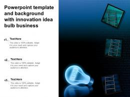 Powerpoint Template And Background With Innovation Idea Bulb Business