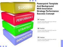 Powerpoint Template And Background With Innovation Strategy Performance Success Concept