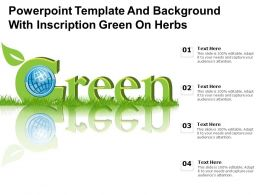 Powerpoint Template And Background With Inscription Green On Herbs