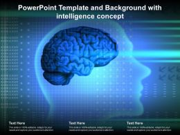 Powerpoint Template And Background With Intelligence Concept