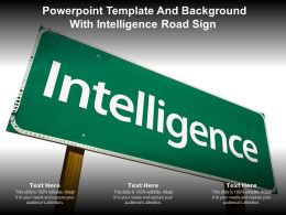 Powerpoint Template And Background With Intelligence Road Sign