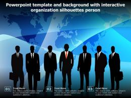 Powerpoint Template And Background With Interactive Organization Silhouettes Person