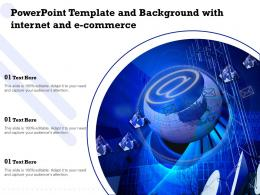 Powerpoint Template And Background With Internet And E Commerce