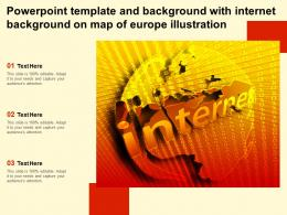 Powerpoint Template And Background With Internet Background On Map Of Europe Illustration