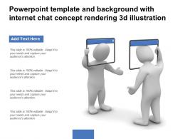 Powerpoint Template And Background With Internet Chat Concept Rendering 3d Illustration