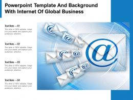 Powerpoint Template And Background With Internet Of Global Business