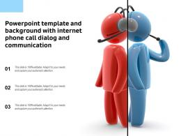 Powerpoint Template And Background With Internet Phone Call Dialog And Communication