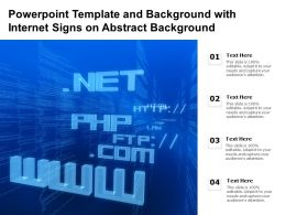 Powerpoint Template And Background With Internet Signs On Abstract Background