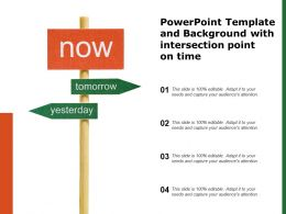 Powerpoint Template And Background With Intersection Point