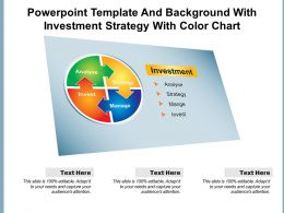 Powerpoint Template And Background With Investment Strategy With Color Chart
