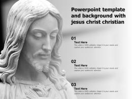 Powerpoint Template And Background With Jesus Christ Christian