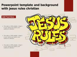 Powerpoint Template And Background With Jesus Rules Christian