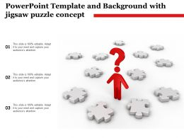 Powerpoint Template And Background With Jigsaw Puzzle Concept