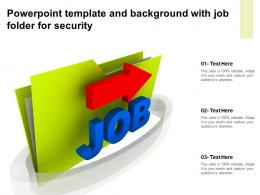 Powerpoint Template And Background With Job Folder For Security