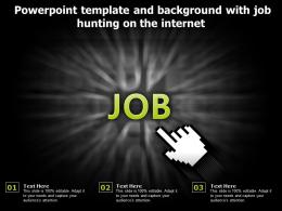 Powerpoint Template And Background With Job Hunting On The Internet