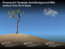 Powerpoint Template And Background With Joshua Tree On A Dune