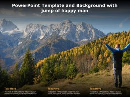 Powerpoint Template And Background With Jump Of Happy Man