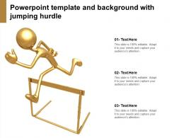 Powerpoint Template And Background With Jumping Hurdle