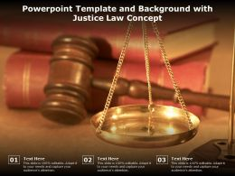 Powerpoint Template And Background With Justice Law Concept