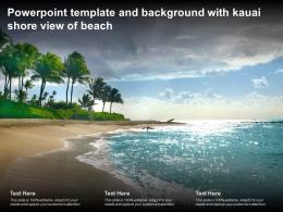 Powerpoint Template And Background With Kauai Shore View Of Beach