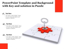 Powerpoint Template And Background With Key And Solution In Puzzle