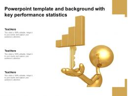 Powerpoint Template And Background With Key Performance Statistics
