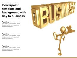Powerpoint Template And Background With Key To Business