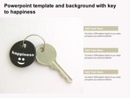 Powerpoint Template And Background With Key To Happiness