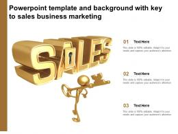 Powerpoint Template And Background With Key To Sales Business Marketing