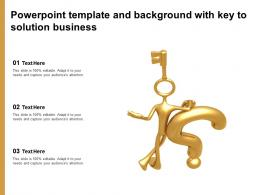 Powerpoint Template And Background With Key To Solution Business