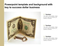 Powerpoint Template And Background With Key To Success Dollar Business