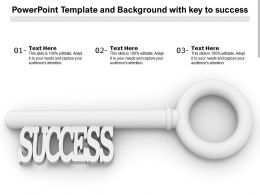 Powerpoint Template And Background With Key To Success