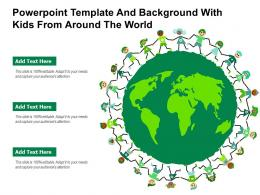 Powerpoint Template And Background With Kids From Around The World