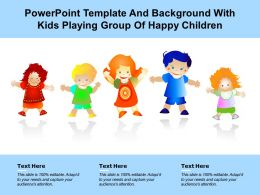Powerpoint Template And Background With Kids Playing Group Of Happy Children