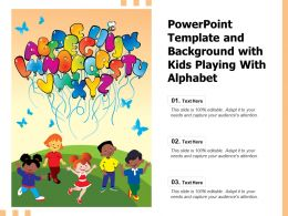 Powerpoint Template And Background With Kids Playing With Alphabet