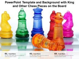 Powerpoint Template And Background With King And Other Chess Pieces On The Board