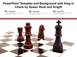 Powerpoint Template And Background With King In Check By Queen Rook And Knight