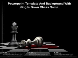 Powerpoint Template And Background With King Is Down Chess Game