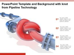 Powerpoint Template And Background With Knot From Pipeline Technology