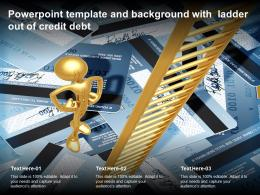 Powerpoint Template And Background With Ladder Out Of Credit Debt