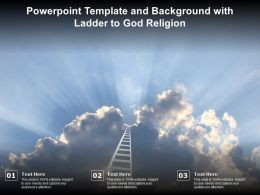 Powerpoint Template And Background With Ladder To God Religion