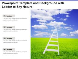 Powerpoint Template And Background With Ladder To Sky Nature
