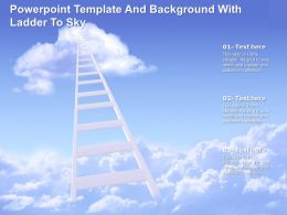 Powerpoint Template And Background With Ladder To Sky