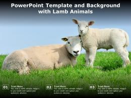 Powerpoint Template And Background With Lamb Animals