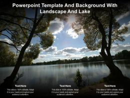Powerpoint Template And Background With Landscape And Lake