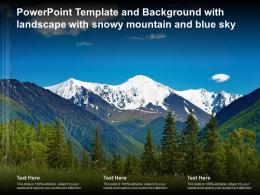 Powerpoint Template And Background With Landscape With Snowy Mountain And Blue Sky