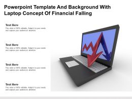 Powerpoint Template And Background With Laptop Concept Of Financial Falling