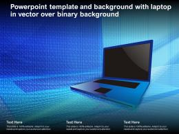 Powerpoint Template And Background With Laptop In Vector Over Binary Background